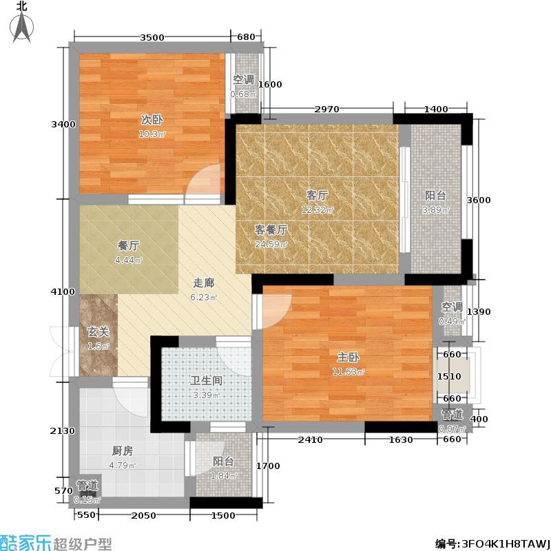 润丰水尚观景台高层组团71.00㎡二期35号楼标准层C5户型