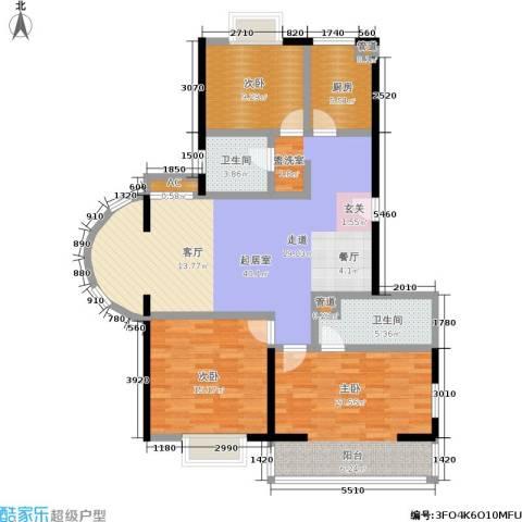 爱达花园紫藤园3室0厅2卫1厨111.00㎡户型图
