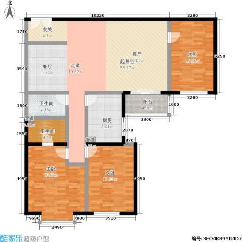 碧水星阁3室0厅2卫1厨140.00㎡户型图