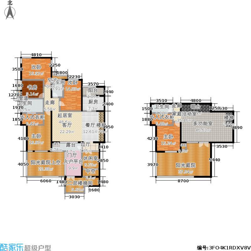 首开·常青藤244.00㎡二期珑藤15、19号楼二单元一层西S-2Y五室&#65533户型5室3厅