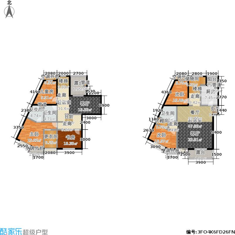 中兴和园中兴和园户型图2#3单元-01-F13户型(16/24张)户型4室2厅4卫