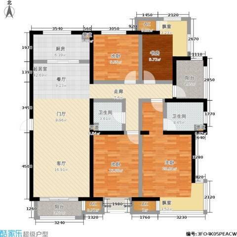 北京城建·世华泊郡4室0厅2卫1厨158.00㎡户型图