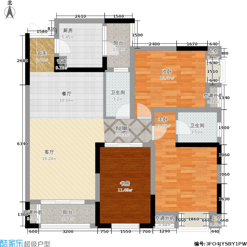 润丰水尚观景台高层组团92.00㎡二期35号楼标准层C4户型