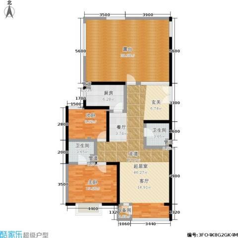 A派公寓2室0厅2卫1厨121.09㎡户型图