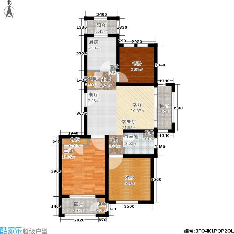 浦江颐城晶寓88.00㎡A户型3室2厅