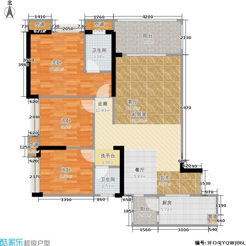 富州新城D街区98.00㎡一期标准层A-1户型