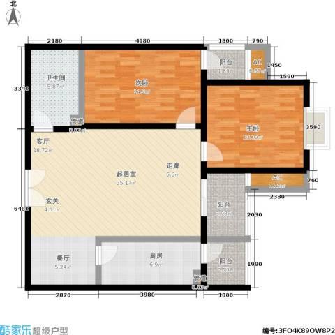 国展新座2室0厅1卫1厨100.00㎡户型图