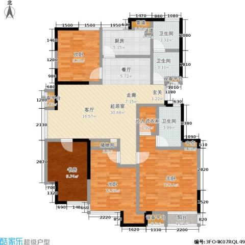 美达浅草明苑4室0厅3卫1厨146.00㎡户型图