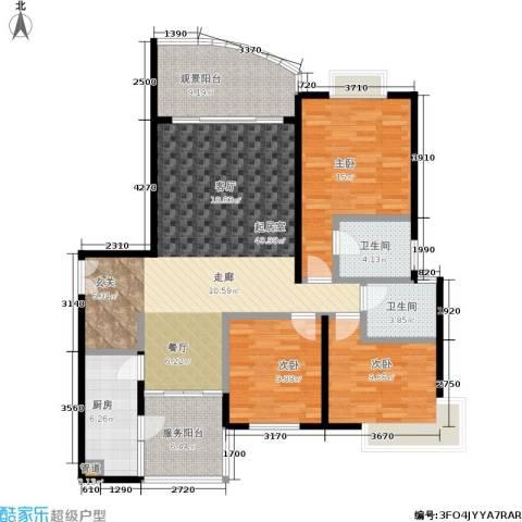春天花园3室0厅2卫1厨105.49㎡户型图