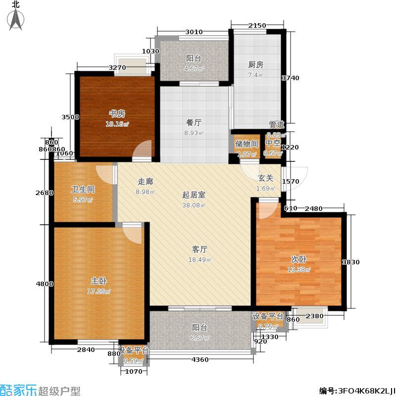 新创理想城新创理想城户型图三房二厅二卫120.31m2(23/27张)户型10室