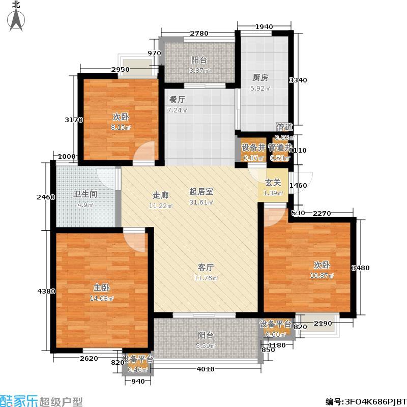 新创理想城100.00㎡新创理想城户型图房型:三房;面积段:100-144平方米;(3/3张)户型10室