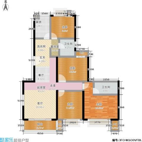 爱达花园紫藤园4室0厅2卫1厨135.00㎡户型图