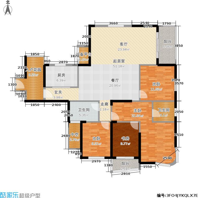 江南新天地二期177.90㎡一期4、6号楼B户型