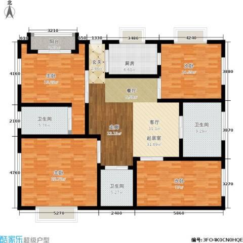 水岸帝景4室0厅3卫1厨150.54㎡户型图