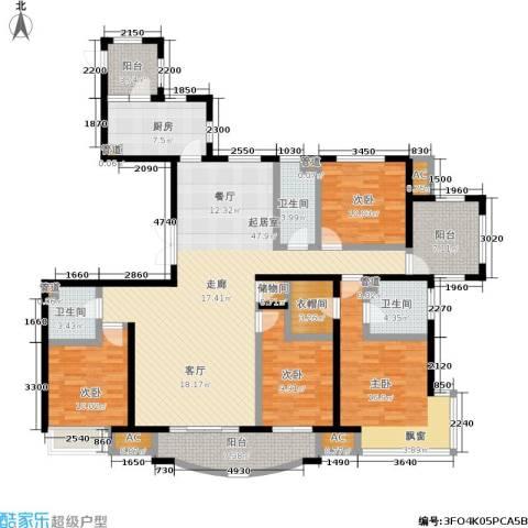 北京城建·世华泊郡4室0厅3卫1厨159.00㎡户型图