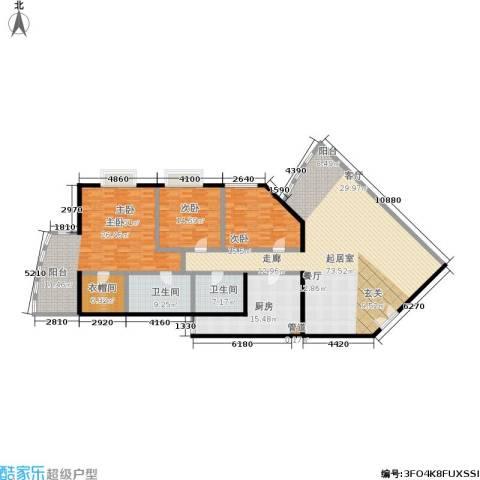 中国第一商城3室0厅2卫1厨200.00㎡户型图