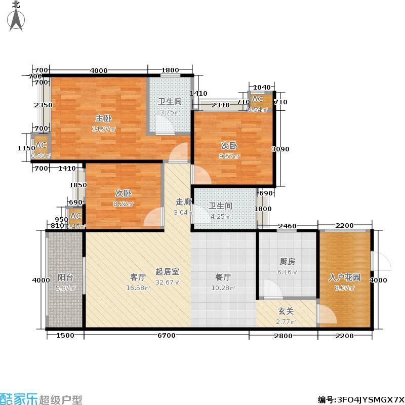 华粹南山绿庭109.00㎡华粹・南山绿庭三期26号楼标准层A户型