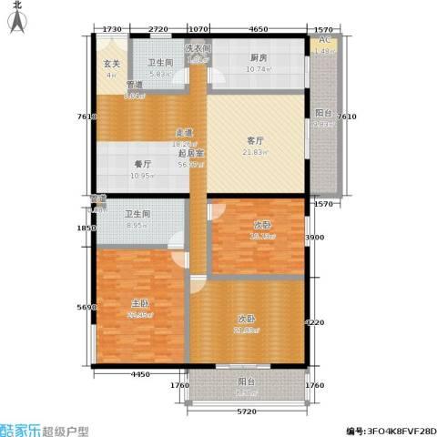 锦绣园3室0厅2卫1厨182.00㎡户型图