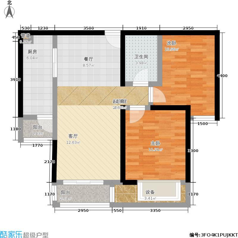 北京城建·世华泊郡88.00㎡7号楼H1户型2室2厅