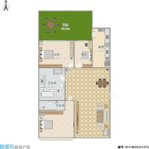 龙仕・公园里3室1厅2卫1厨293.00㎡户型图