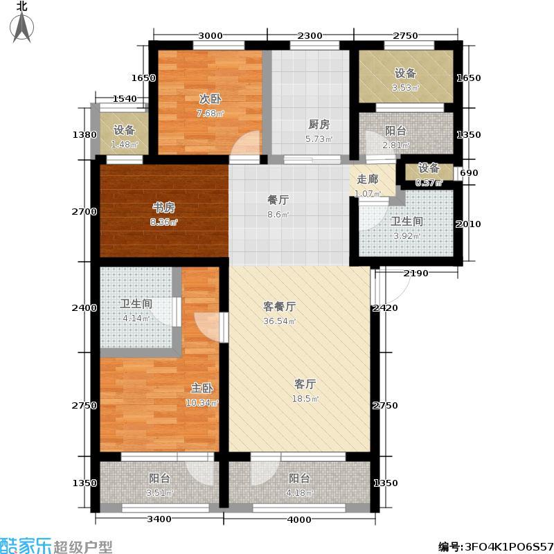 枫丹壹號115.00㎡B1户型3室2厅