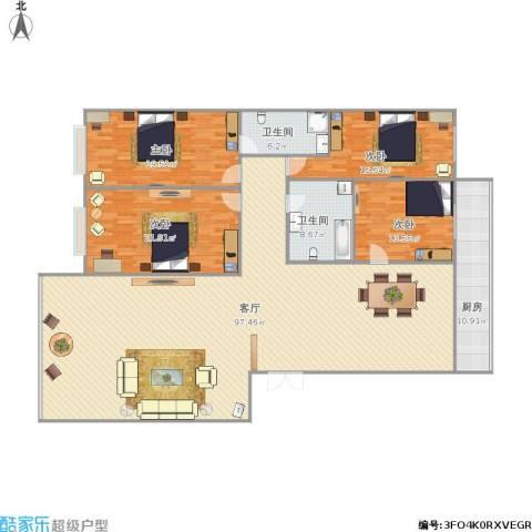 龙鼎花园2期4室1厅2卫1厨255.00㎡户型图
