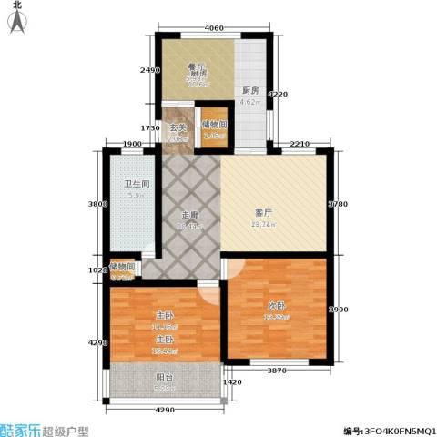 稻香园南区2室0厅1卫1厨86.00㎡户型图