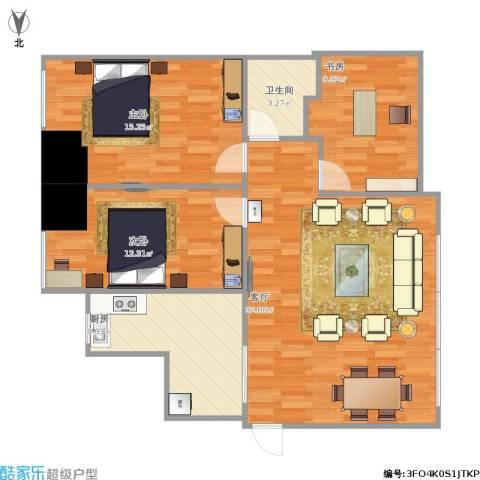 西吴御龙庭3室1厅1卫1厨112.00㎡户型图