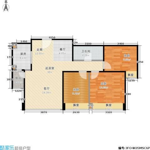 合生・滨江帝景3室0厅1卫1厨100.00㎡户型图