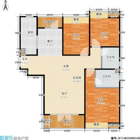 合生・滨江帝景3室0厅2卫1厨138.00㎡户型图
