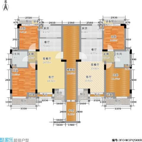 港城滴水湖馨苑4室2厅2卫2厨136.62㎡户型图