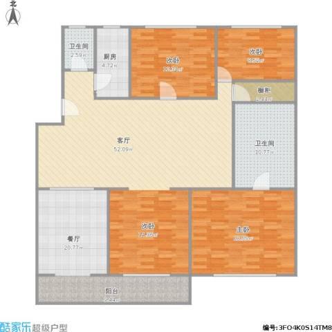 凤凰花园城清溪园3室2厅2卫1厨177.00㎡户型图