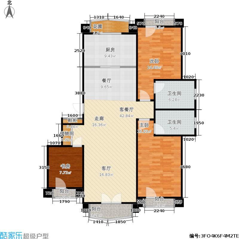 鲁信南海花园132.00㎡A户型3室2厅1卫