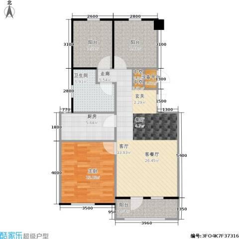 香槟新坐标1室1厅1卫1厨82.00㎡户型图