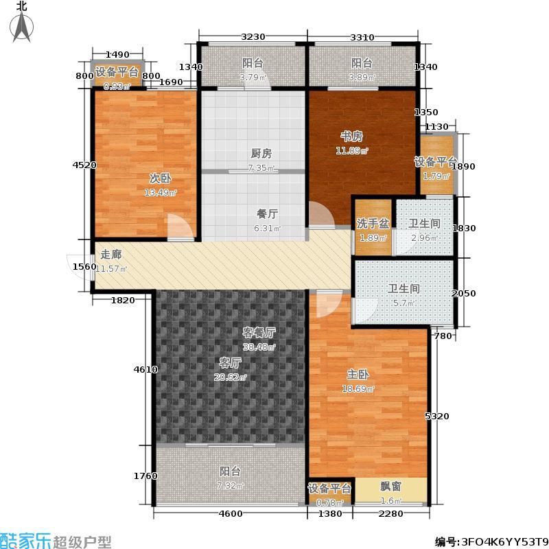 安阳义乌国际商贸城C3 三室两厅两卫户型3室2厅2卫