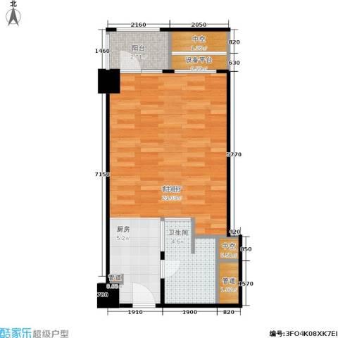 中豪湘座1厅1卫0厨52.00㎡户型图