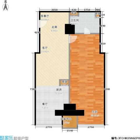 创汇 创汇・首座1室1厅1卫0厨73.00㎡户型图