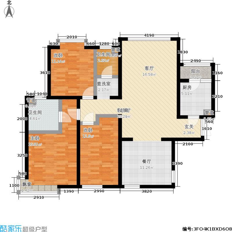 合生国际花园143.82㎡东区20号楼面积14382m户型