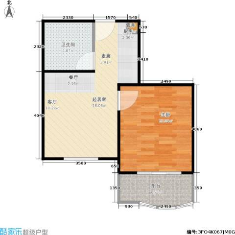 汤INN酒店式公寓1室0厅1卫0厨44.00㎡户型图