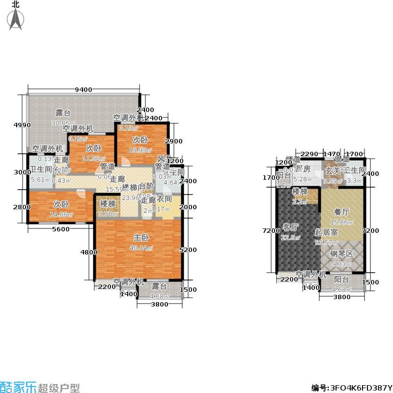 中兴和园中兴和园户型图1#4单元-02-F1反户型(22/24张)户型3室2厅3卫