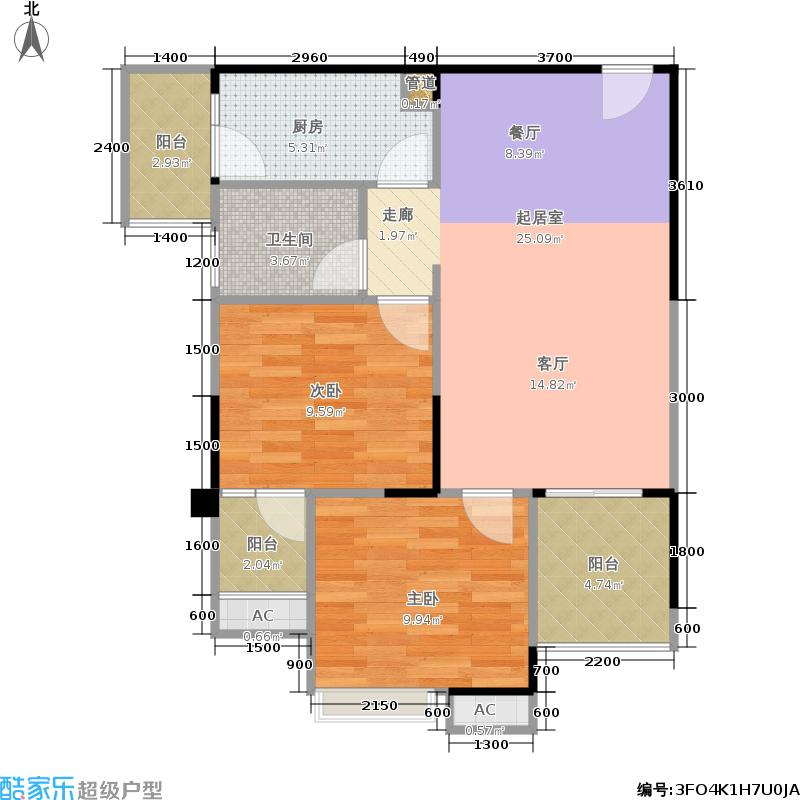 和泓LOMO中心62.97㎡一期B3栋loft高铺标准层8号房户型