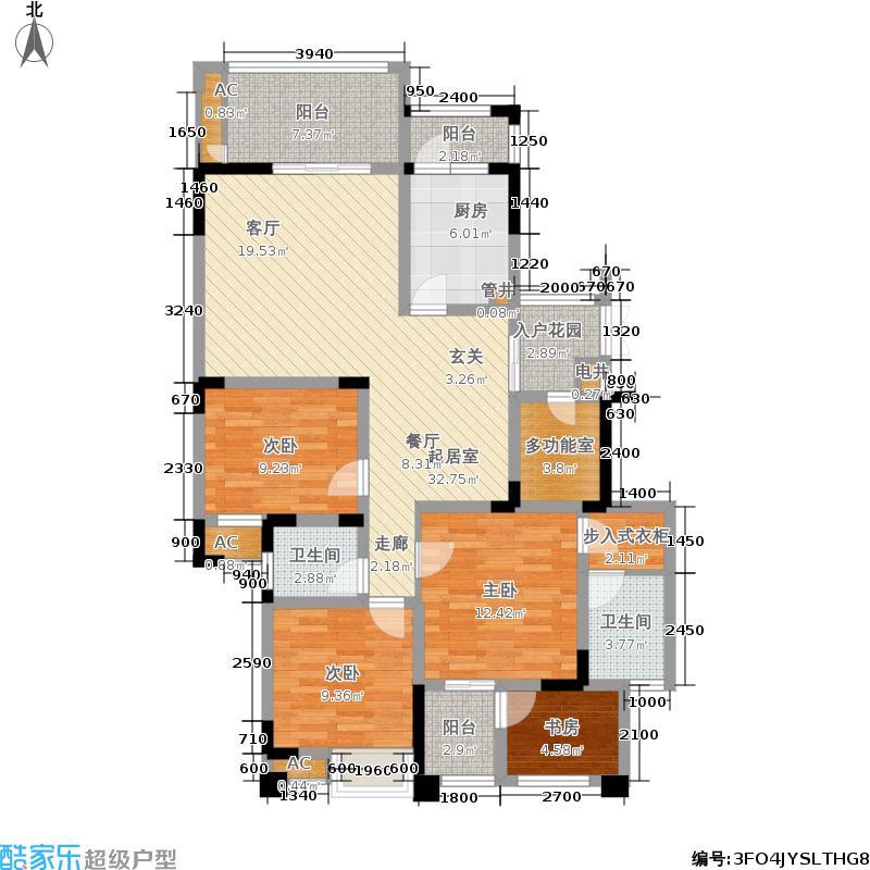 金鹏金嶺108.00㎡金鹏金�一期9号楼标准层D户型