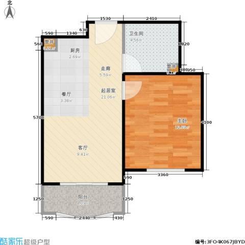 汤INN酒店式公寓1室0厅1卫0厨46.00㎡户型图