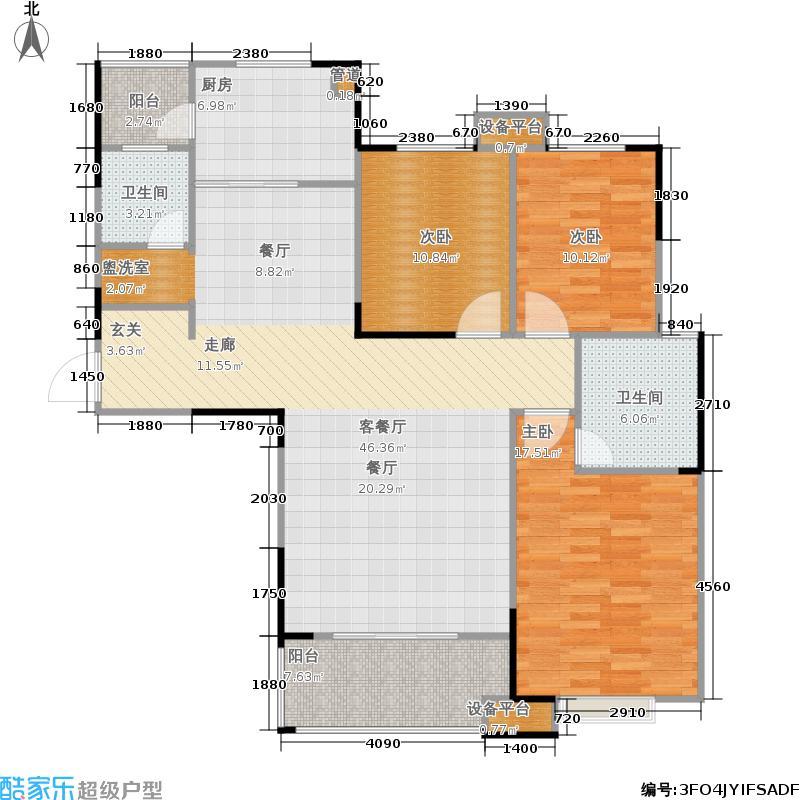 东工企业家苑121.85㎡二期3-C户型