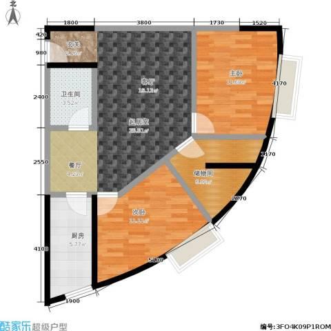 金江大厦2室0厅1卫1厨75.00㎡户型图