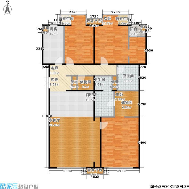 玉泉新城197.85㎡B9、12号楼B9-2-X01、B9-1-X02户型3室2厅