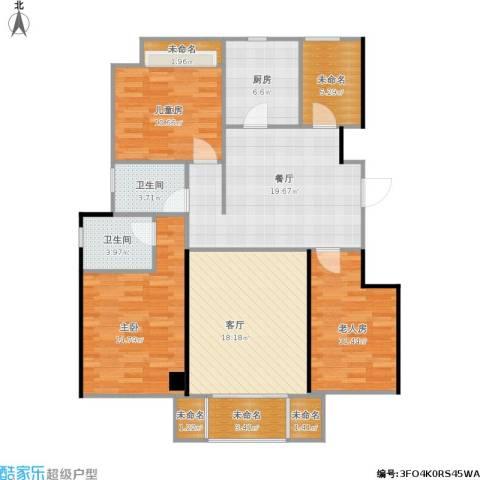 香醍溪岸3室2厅2卫1厨139.00㎡户型图