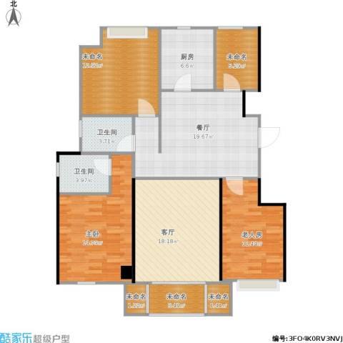 香醍溪岸2室2厅2卫1厨139.00㎡户型图