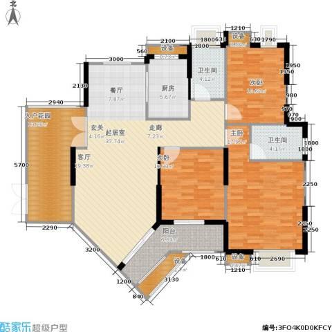 伊萨卡排屋3室0厅2卫1厨159.00㎡户型图