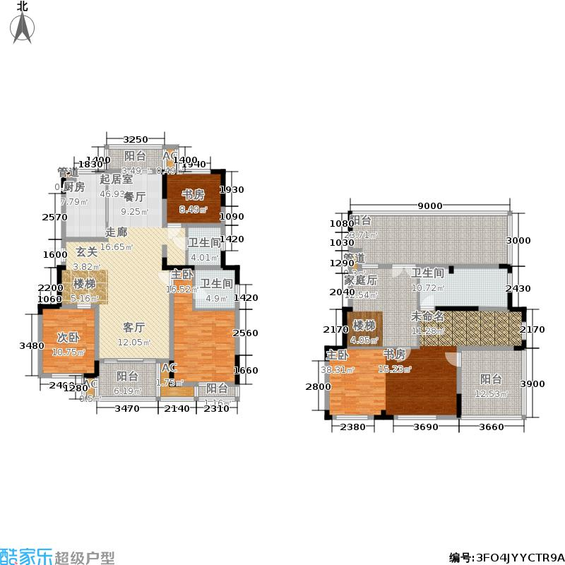 宏图上水庭院218.00㎡一期1幢11层跃层G130-1-B户型